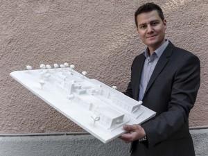 Richard Hagl mit 3D-Druck